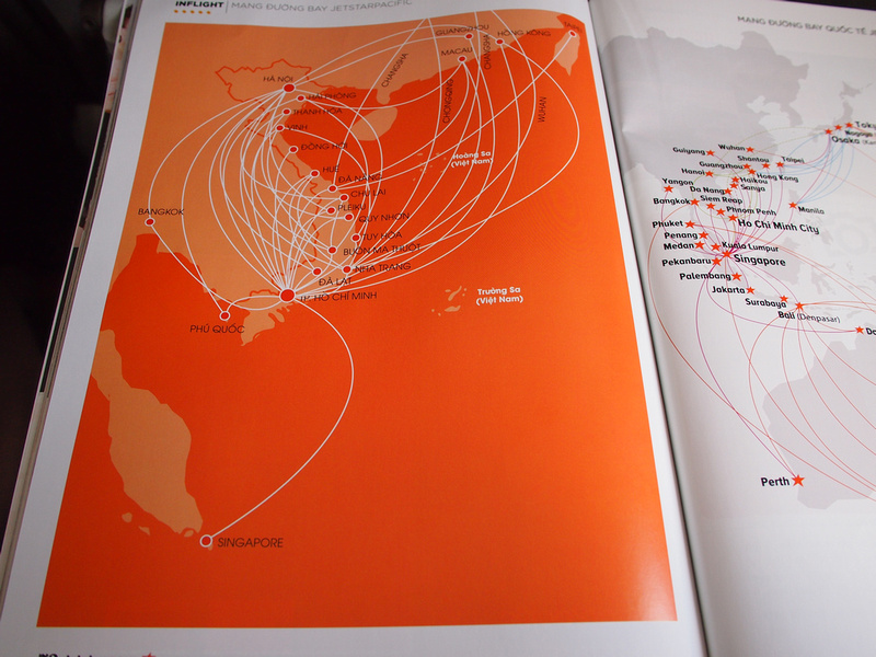 Jetstar Pacific Route map