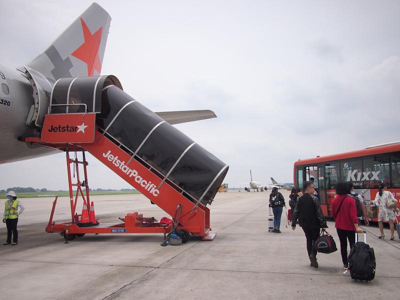 Hanoi Airport disembark