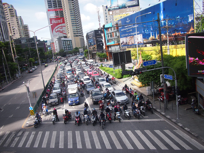 Bangkok car traffic