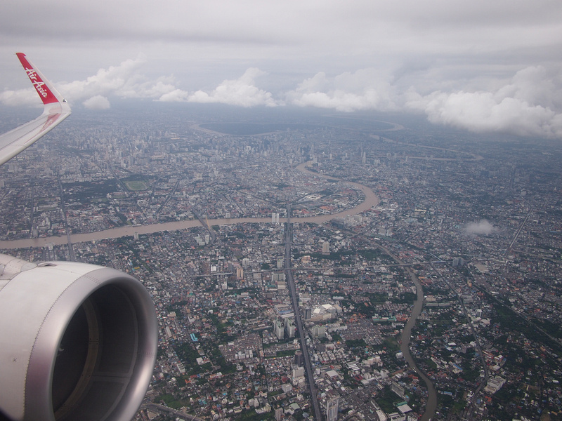 Flying over Bangkok