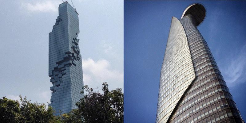 MahaNakhon and Bitexco Financial Tower
