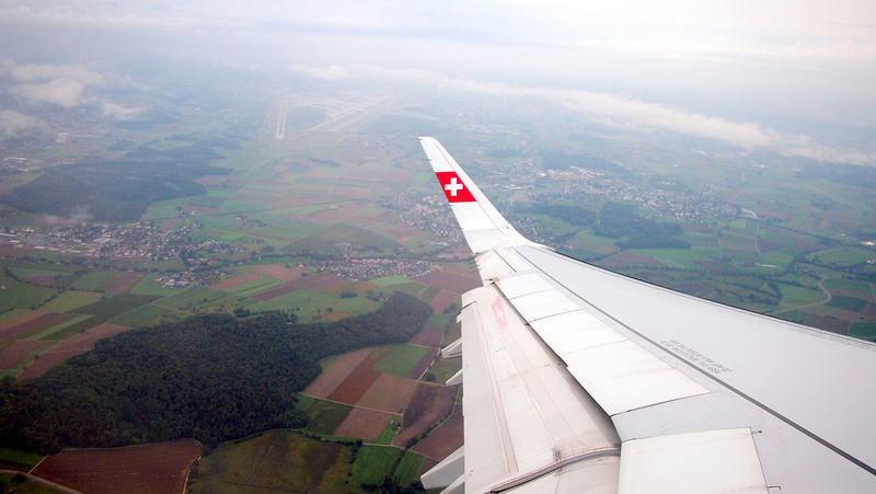 Flying over Zurich