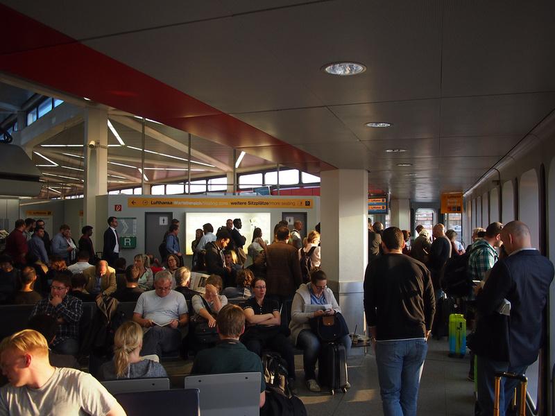 Berlin Tegel Airport crowded departures