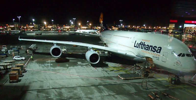 A380 at Frankfurt