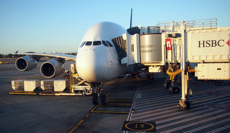 Singapore Airlines A380 at Sydney Airport