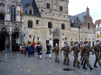 Military parade on November 11 2007 (Armistice Day), at the City Hall, Mechelen - Belgium.