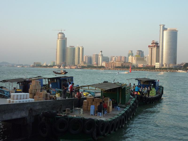 Gulangyu supply boats from Xiamen
