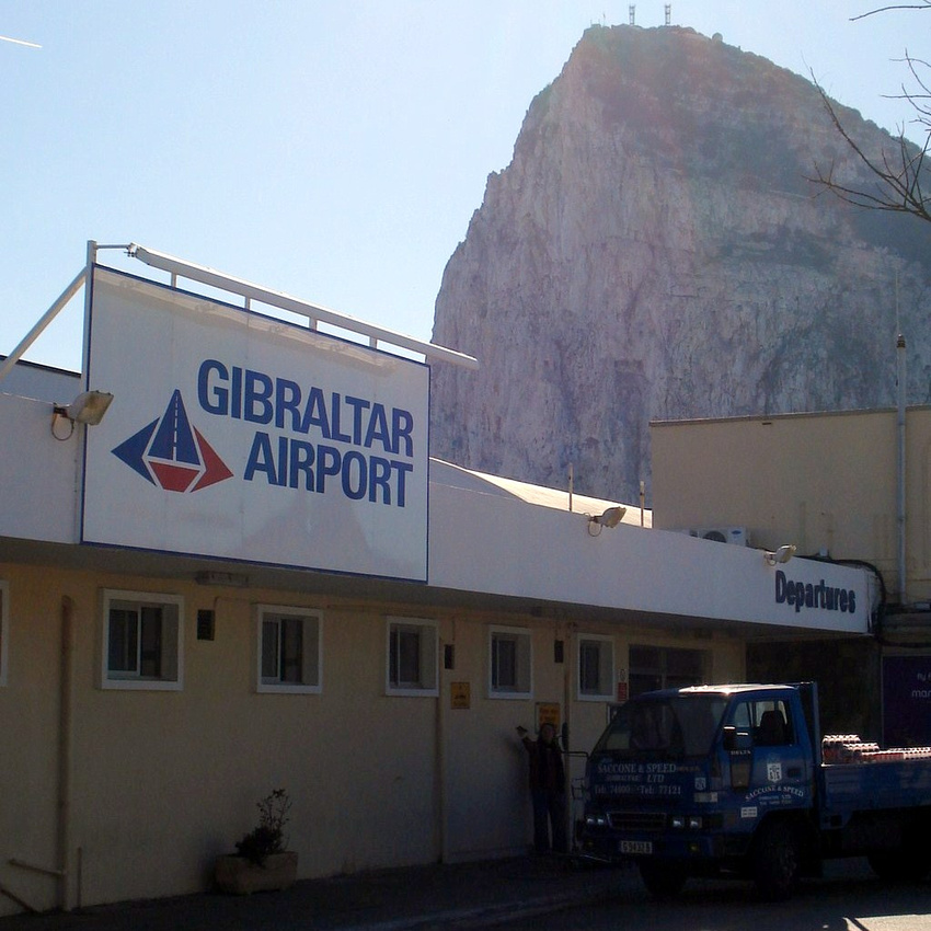 Gibraltar Airport and The Rock