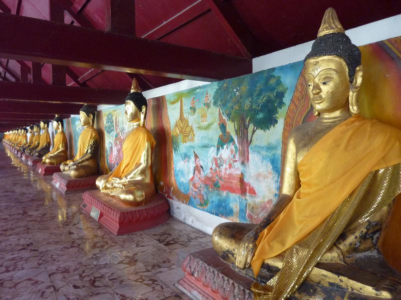 Buddhas at Phra Borom That, Nakhon Si Thammarat - Thailand.