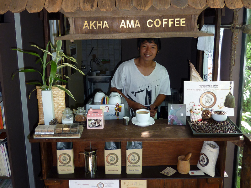 Lee at Akha Ama Coffee - Chiang Mai