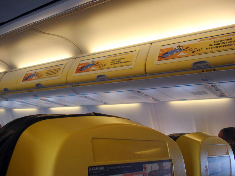 Ryanair In-Cabin Advertising