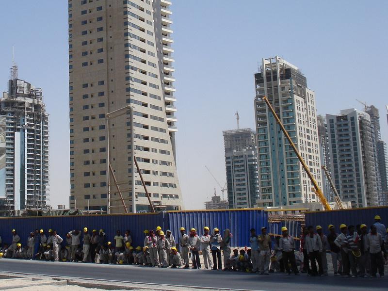 Dubai Marina Construction Workers