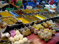 Food at the night market, Krabi - Thailand.