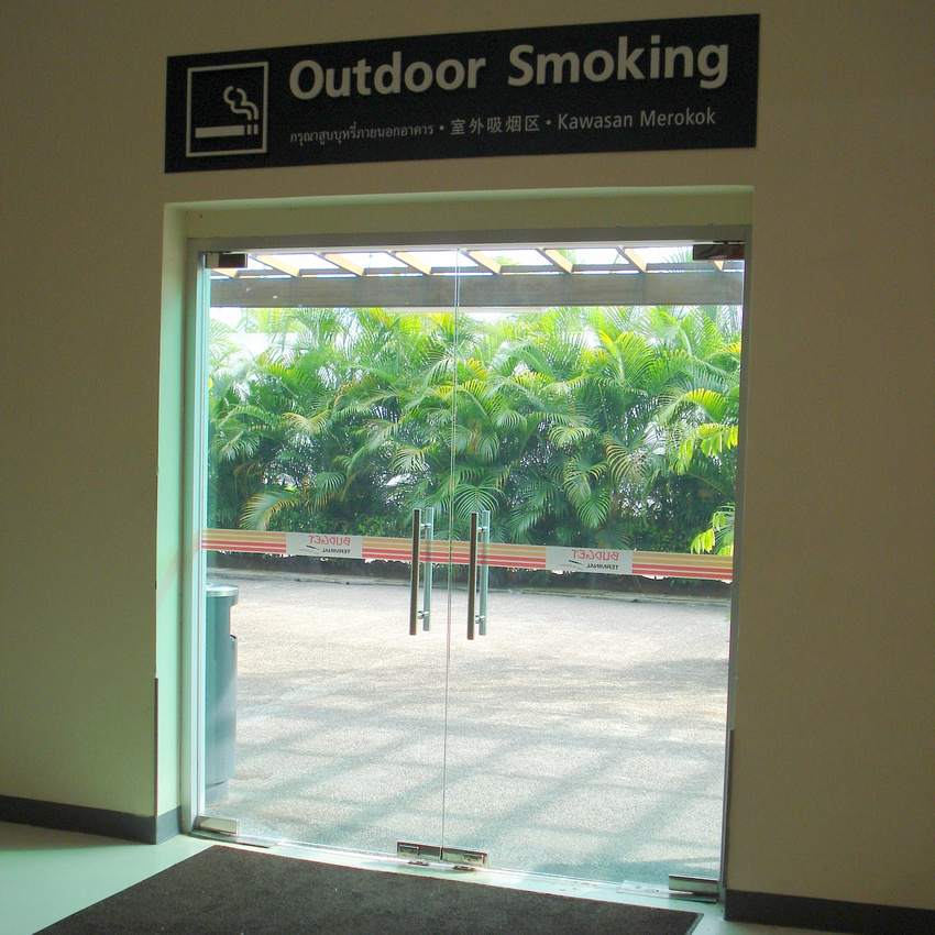 Singapore Budget Terminal - Outdoor Smoking