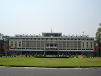 Reunification Palace, Ho Chi Minh City (Saigon) - Vietnam. Formerly known as Independence Palace, this is the location of the iconic footage of a NVA tank crashing through its gates at the fall of Sai