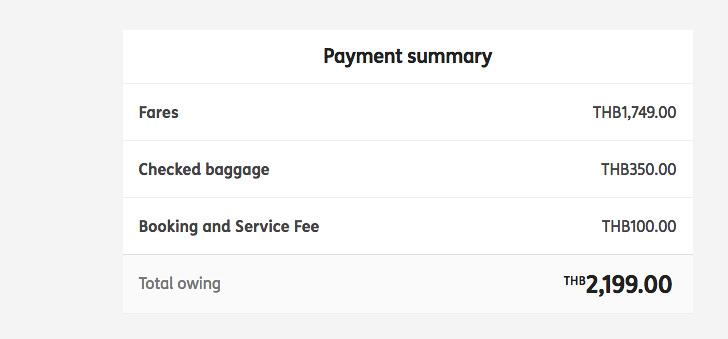 Flight payment