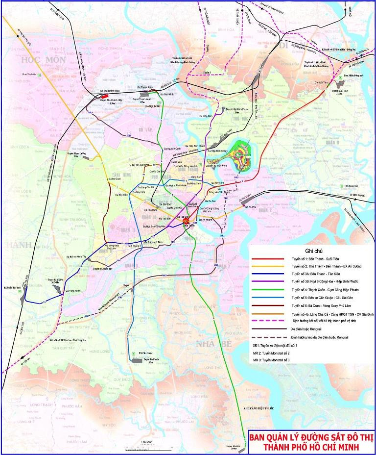Mien Tay Vietnam Map.An Updated Map Of The Future Saigon Metro