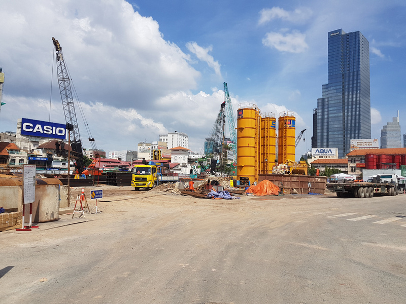 Ben Thanh Station construction - November 2017