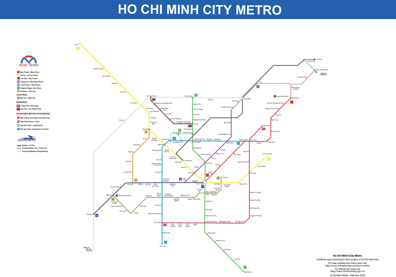 Ho Chi Minh City Metro Map