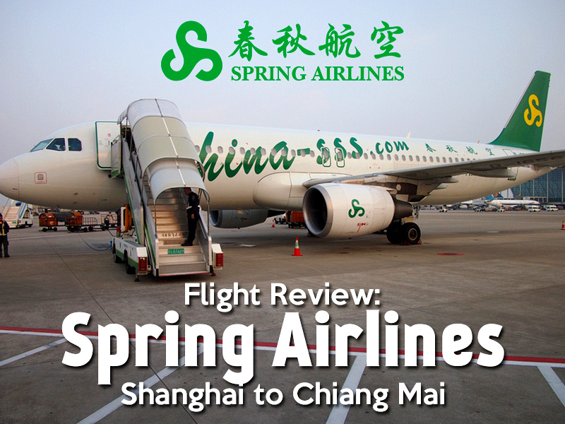 Flight Review: Spring Airlines from Shanghai to Chiang Mai