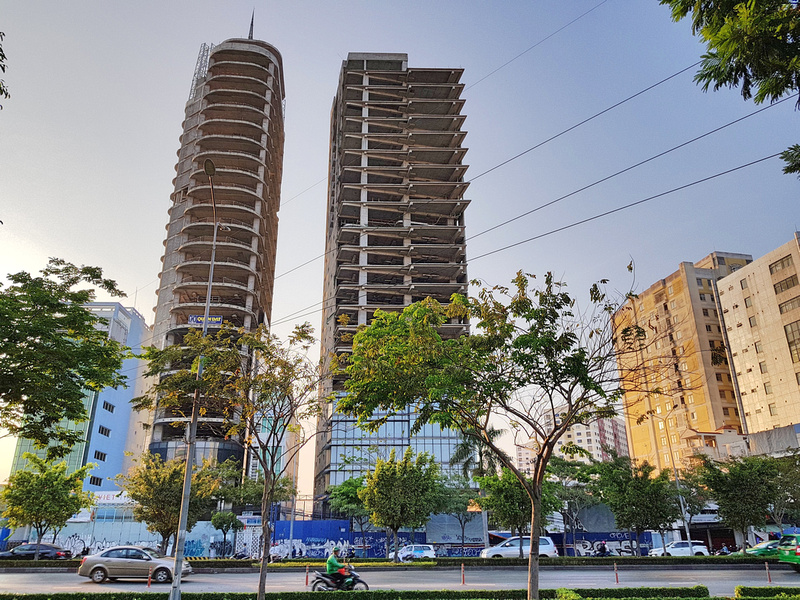 V Tower and DB Tower