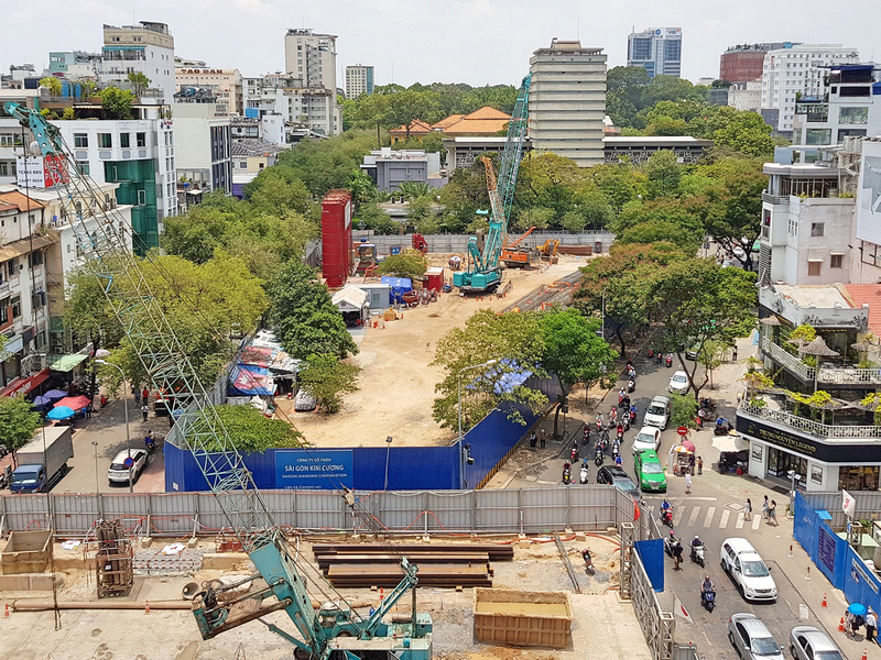 Construction work in April, 2018