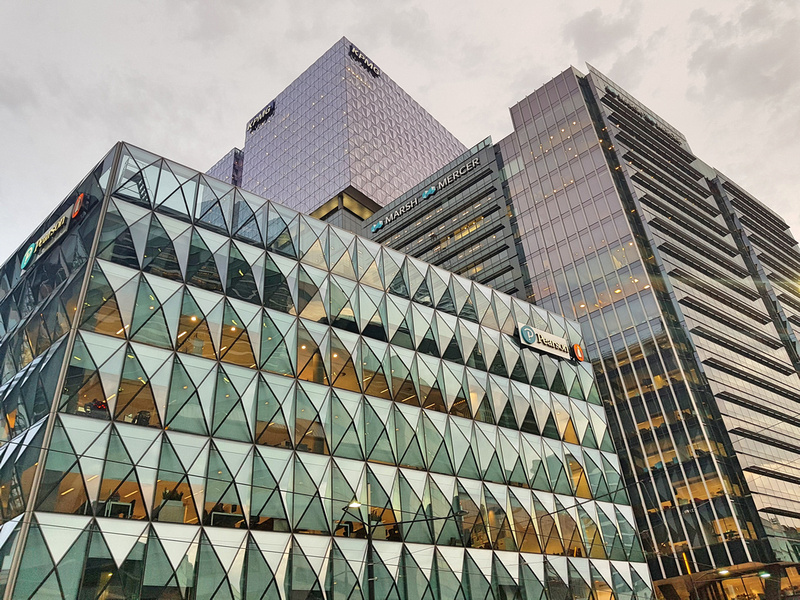 Docklands glass boxes
