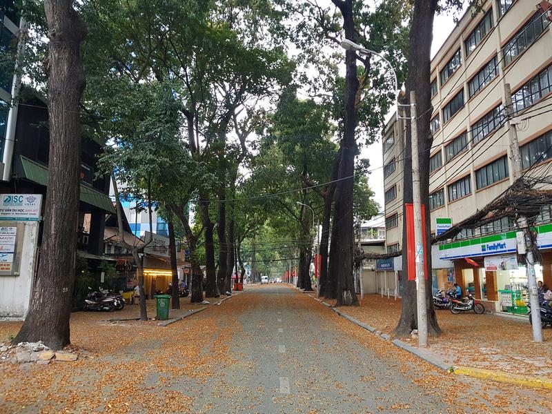 Deserted streets of Saigon