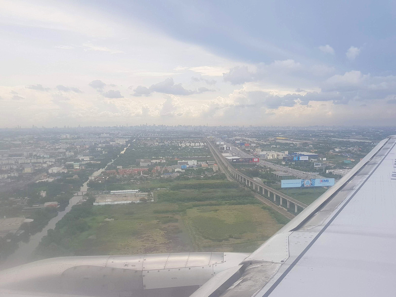 Bangkok view from the wing