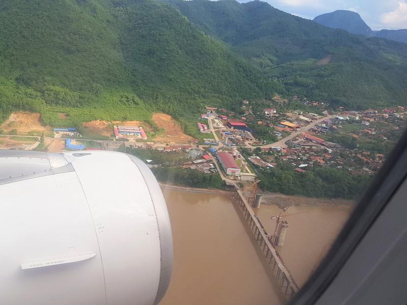 View of Luang Prabang rail bridge