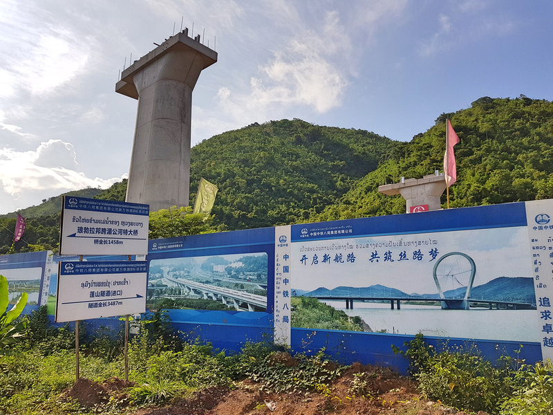 China-Laos railway under construction