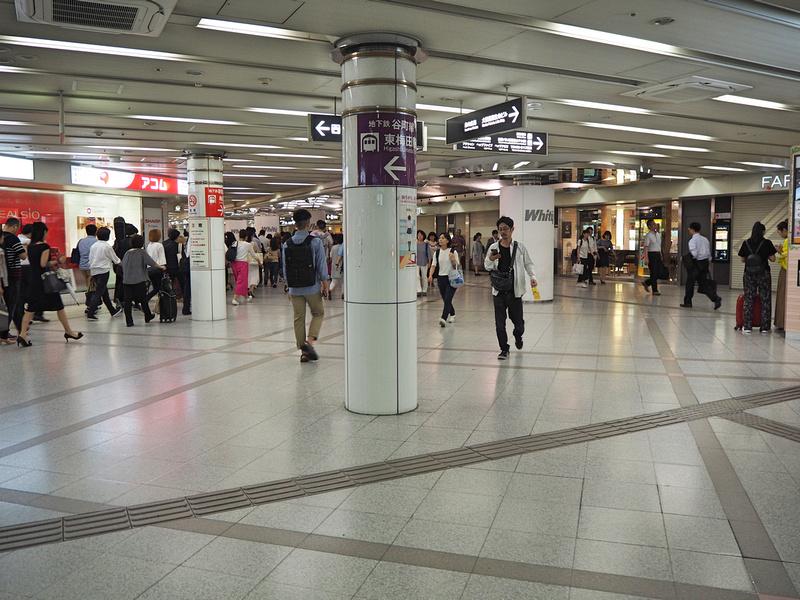 Osaka station area underground