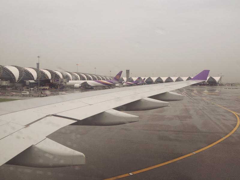 Rainy arrival