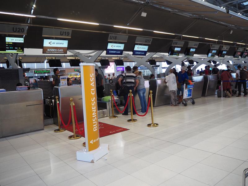 Air Astana check-in at BKK