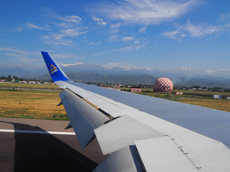 Arriving at Almaty