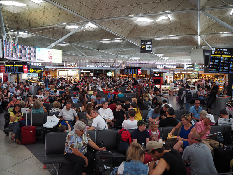 Stansted waiting lounge