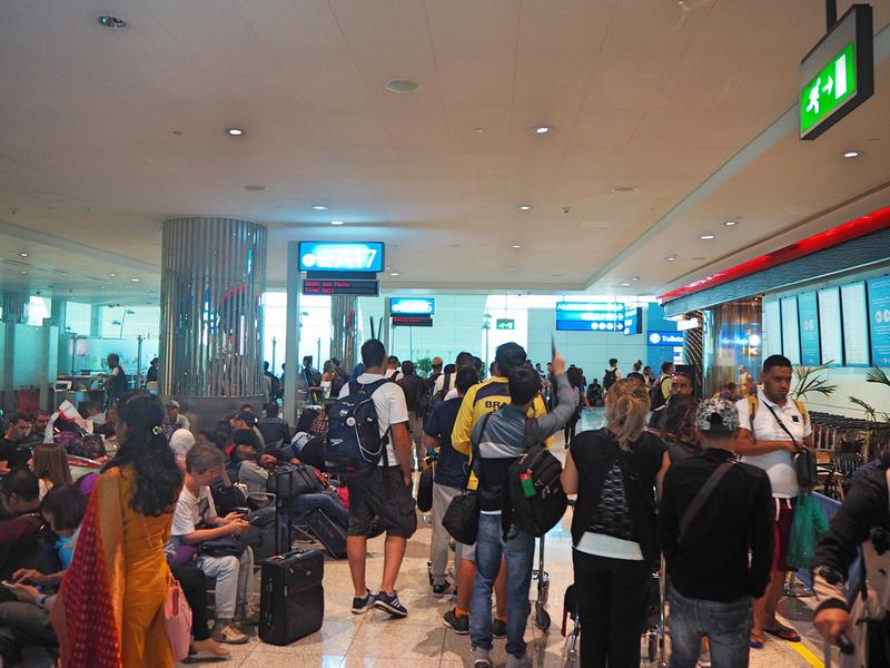 Crowded gate