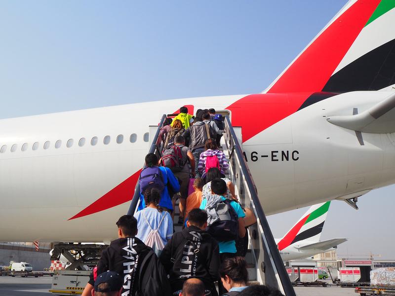 Rear boarding