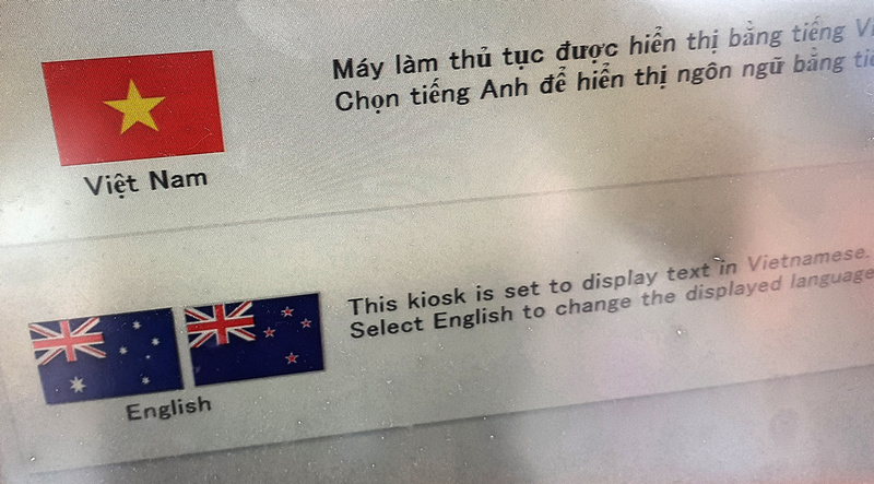Vietnamese or English