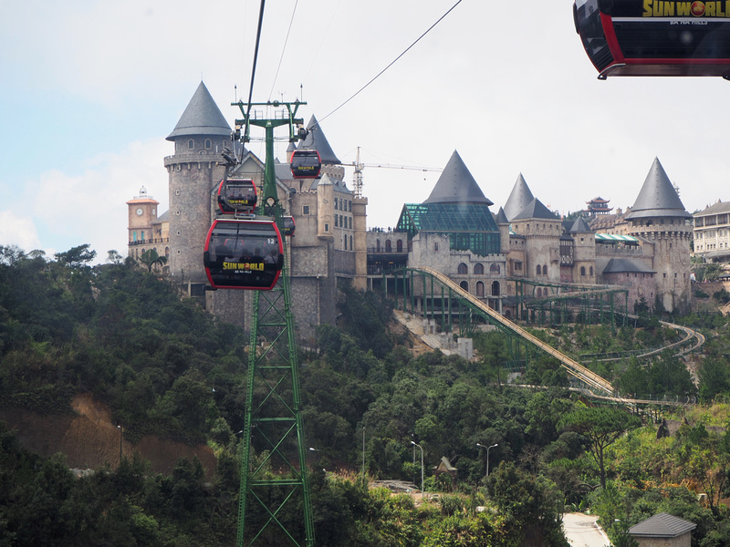 Cable car to French village