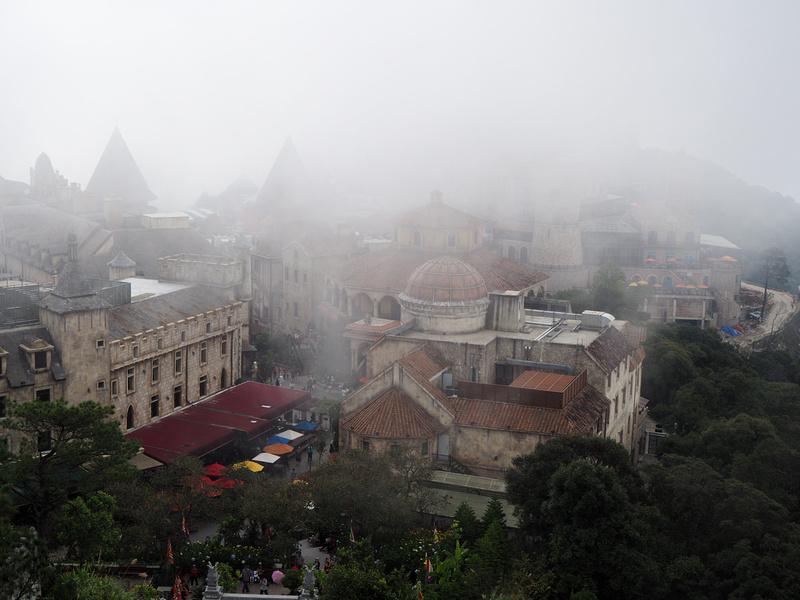 Misty French Village