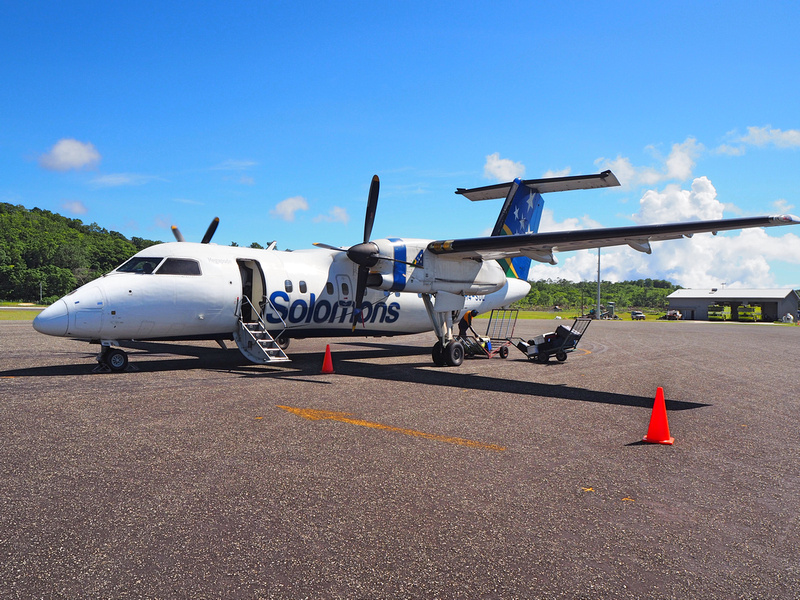 Solomon Airlines at Munda Airport