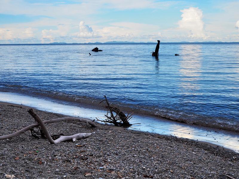 Mbonege Beach wreck