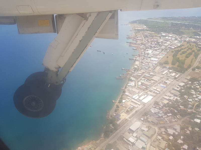 Wheels down for Honiara