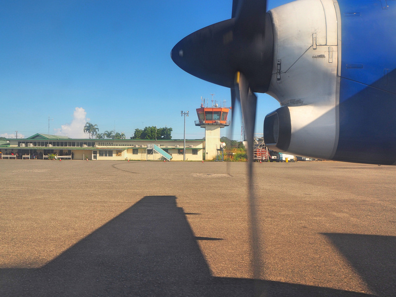 Departing Honiara
