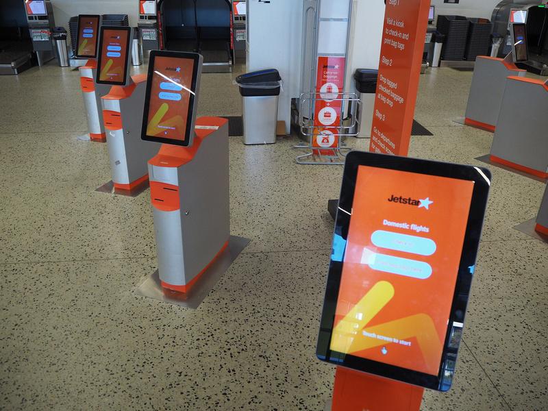 Self check-in kiosks