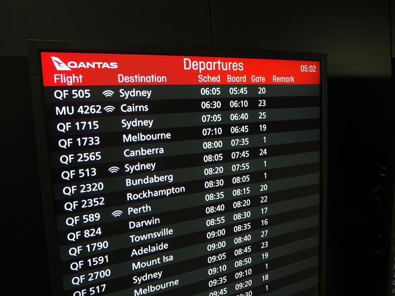 QF domestic departures
