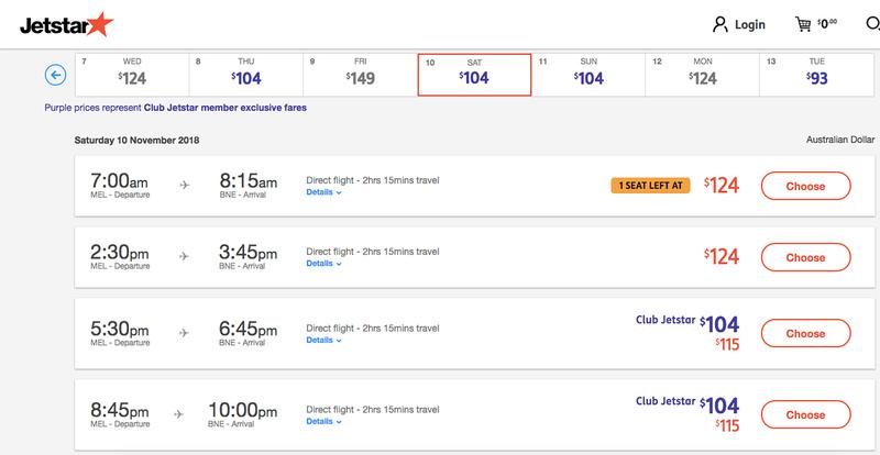Flight comparison