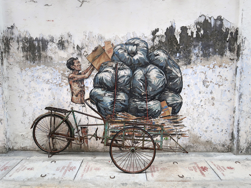 Trishaw wall art