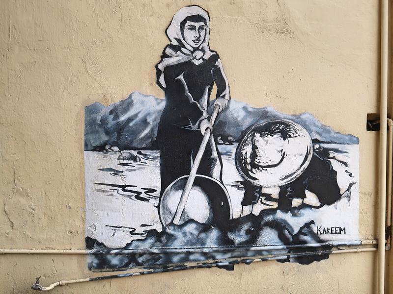 Miner mural
